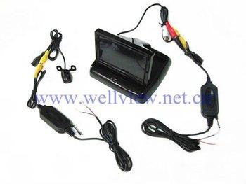 4.3inch Foldable Car Monitor +170 Degree Mini Camera 2.4G Wireless Car Reversing Kits