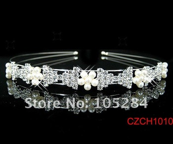 20pcs/lot wholesales crystal wedding headband crown