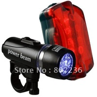 free shipping*210set/lot*Bike Bicycle Torch 5 LED Head Light +5 Tail Rear Lamp