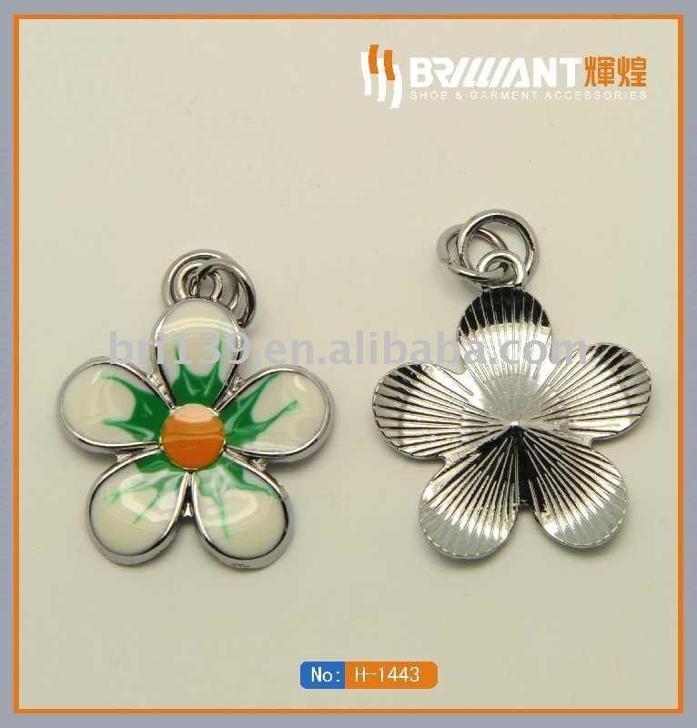 Pequenas flores de metal placa para sapatos(China (Mainland))