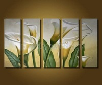 Art Handmade flower lily Oil Painting On Canvas 100% hand painted directly from artist hot new arrival