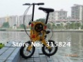 Free shipping 12'' Super Folding Bike, Smallest bycycle,Folding like a Transformers, Bicycle