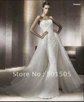 Strapless Wedding Dresses Fine Tulle and Appliques fitted Slim bodices with flowing train 2012 design