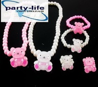 Kawaii Kids jewelry sets Necklace Bracelets Ring sets,nice gift for children  35sets/lot,Free shipping