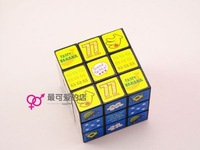 ree shipping,12 pcs/lot,1 pcs of fan for free,3*3*3,Brain teaser,cartoon,Magic,Cube Game