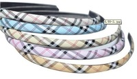 Free Shipping 20pcs/lot Mix Color Plaid Hairband Hair Ornaments HJ12