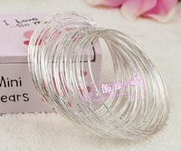 Free Shipping Fashion Charm100pcs Silver Bangle Girl's Bangle Fit anybody only 0.26/pcs Buy get free Gift