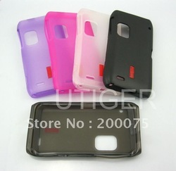 20pcs/lot New Arrive Soft TPU Back Cover Cell phone/Mobile Phone Case For Nokia E7 E700(China (Mainland))
