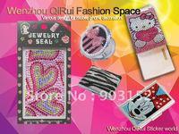 Free shipping,wholesale,hot sale,shiny under sun,acrylic rhinestone sticker for mobile phone