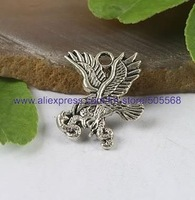 free shipping 59 pcs/lot,wholesale fashion lovely hawk charms tibetan silver charms alloy charms jewelry accessories