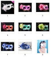 Free shipping+20pcs Venetian&Hallowmas Paillette with flower Party Dance/masquerade masks(MJ001)