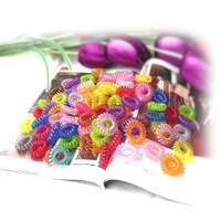 Free shipping,Candy colored hair ring telephone line / Tousheng (100 / bag)