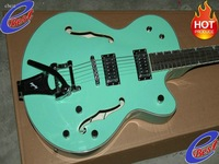 NEW Arrival Light green6120D Chet Atkins Hollow Body Bigsby Electric guitar 2011