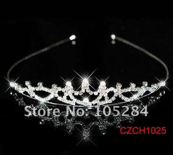 20pcs/lot wholesales crystal wedding headband crown