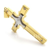Retail + wholesale!Free Shipping!  316L Stainless Steel cross Pendant Necklace 10019651