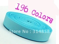 "Free shipping 3/8"" Solid Grosgrain ribbon, 196 Colors You Pick polyester ribbon sewing tape,jacquard ribbon"