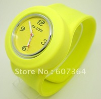 30pcs/lot free shipping silicone slap watch ss.com watch 10 colors