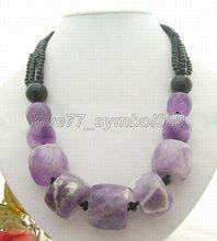 Beautiful! Natural Onyx&Amethyst Necklace+shippment(China (Mainland))