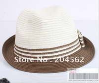 5pcs/lot Free shipping 2011 new beach cap + bump color s straw-hat/jazz cap for men and women