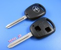 Free shipping Toyota key shell 2 button TOY43 (taiwan)-locksmith tools