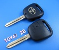 Free shipping Toyota remote key shell side 2 button (Toy43 )-locksmith tools