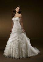 Satin Corded Edge Bridal Veils/Satin Corded Edge Bridal Veils Shiny Sweetheart Court Train Wedding Dress Floral Gown