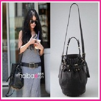 Brand New Celebrity Bottom Studs Rivet Bucket Tote Handbags Hotsale Free shipping