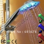 Two Function LED Shower Head with temperature detectable,No Battery