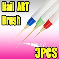 Fast & Free shipping 15 nail art acrylic brush pen paint liner drawing S016