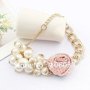 free Shipping!!Fashion personality necessary influx of women beautiful roses flower pearl bracelet/ jewelry bracelets(China (Mainland))
