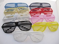 freeshipping 150pcs/lot full color Shutter shades Sunglasses cool party funny Glasses