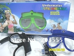 Super deal Free shipping Underwater Diving Digital Camera Mask+4GB Memory+10M waterproof(China (Mainland))