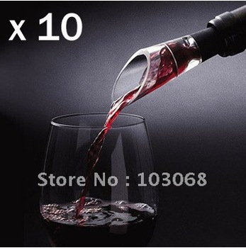 10pcs/lot Brand New White & RED WINE AERATOR Decanter Pourer IMPROVE FLAVOR For whisky Free Shipping