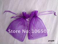 FREE SHIPPING 100PCS 10x15cm PURPLE Sheer Organza Wedding Favour Gift Bag Wholesale and retail