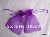 FREE SHIPPING 100PCS 10x15cm PURPLE Sheer Organza Wedding Favour Gift Bag Wholesale and retail