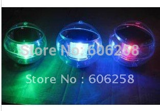 Free shipping 20pcs waterproof Hydroplaning led solar lights (auto changing color), night automatic light
