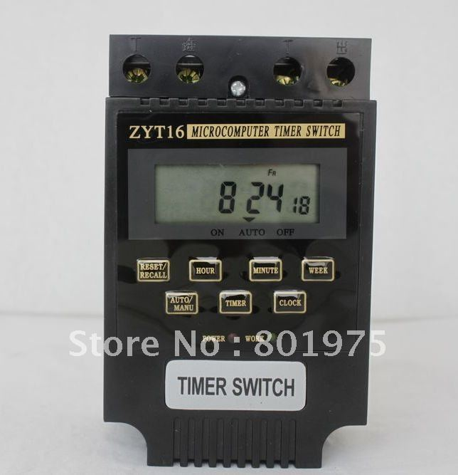 AC380V, 220V, 110V, DC12V, 24V, 36V LCD Micro-Computer MicroComputer Time Switch Timer Controller programmable timer switch(China (Mainland))