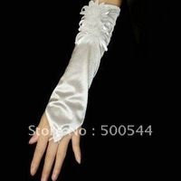 free shipping Lace bridal gloves silky bridal gloves Marriage gauze gloves Silks and satins 20pair/lot