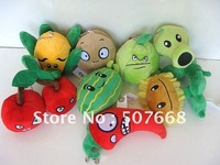 "Plants vs Zombies PVZ Soft  Plush  Toy mini size 4""inch 400pcs/lot free shipping"