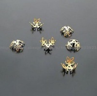 free shipping 15mm (1000pcs)gold color Flower Spacer Beads Caps Jewelry Findings wholesale