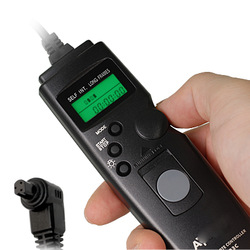 High Quality LCD Timer Shutter Wired Remote Cord for CANON EOS 7D 5D Mark II 40D 30D 20D RS-80N3 R8B9 Free shippping(China (Mainland))