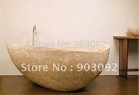customized freestanding deep soaking tub round travertine soaking tubs