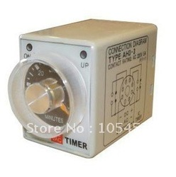 12VDC Power on delay timer time relay 0-60 minutes AH3-3(China (Mainland))
