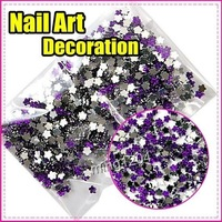 Fast & Free Shipping New 5000 pcs 5 pack Hot Purple flowers decoration wheel Nail Art gift S268