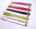 Wholesale Mix Color 10pcs PU Leather Ring DIY Accessories can through slide letters or charms