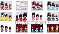 Wholesale home decoration fashion of Japanese doll, dolls, Original wooden dolls, little doll 10Set/(3pcs/set)+ Free shipping