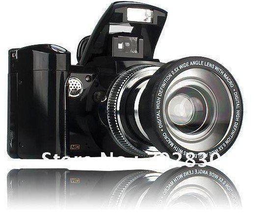 SLR 12MP Digital Camera 8x digital zoom DC500T 2.4inch TFT LCD High Digital Cameras DC-500T(China (Mainland))