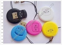 TF card reader of Common Round USB2.0 card reader  free shipping by DHL fast delivery