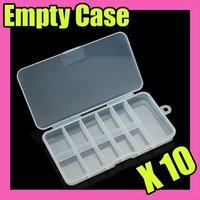 Fast & Free Shipping 50 empty plastic nail art tips storage box case S063
