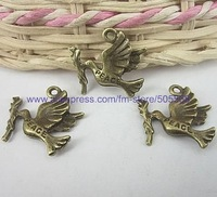 free shipping 63 pcs/lot,wholesale fashion lovely brid charms antique bronze charms jewelry charms jewelry accessories